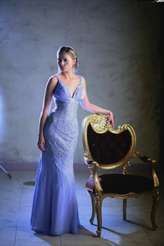 Luxurious Lavender Evening Dresses With Heavy Beads