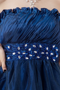 Lovely Dark Navy Tulle Sweet 16 Gowns