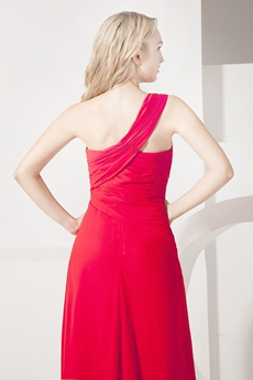 Sexy One Shoulder Mother of Groom Dress