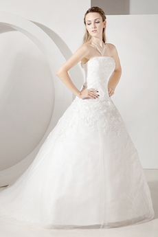 Tasteful Corset Ball Gown Wedding Dresses