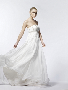 Gracian Empire Waist Maternity Wedding Dress
