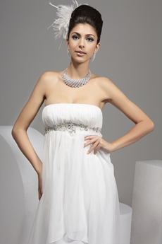 Greek Empire Full Length Maternity Wedding Gown