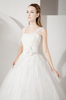 Brilliant Lace Ball Gown Wedding Dresses with Corset