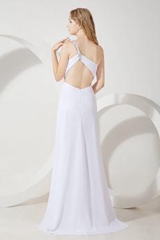 Sexy One Shoulder Beach Wedding Gown