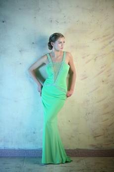 Sexy Green Illusion Evening Dresses