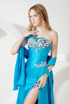 Classic Strapless Turquoise Evening Dresses