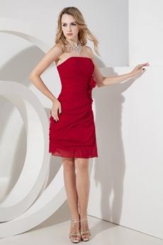 Chic Sleeveless Burgundy Short Homecoming Dresses