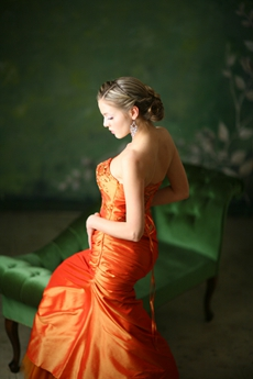 Sweetheart Burnt Orange Graduation Dresses