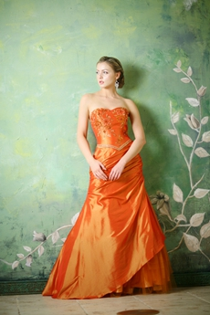 Sweetheart Burnt Orange Graduation Dresses