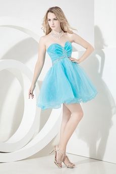 Best Auqa Blue Puffy Sweet Sixteen Dresses