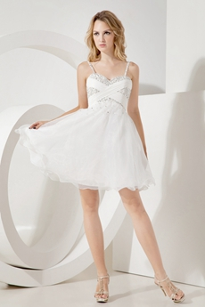 Cute Spaghetti Straps Damas Dress for Quinceanera