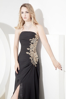 Exquisite Black Chiffon Dresses for Homecoming