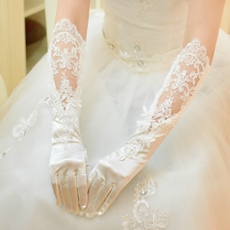 Beautiful Lace Wedding Gloves Elbow Length