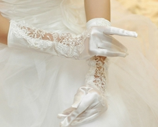 Elbow Length Fingertips Bridal Gloves
