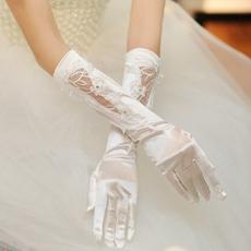 Appliqued Elbow Fingertips Bridal Glove