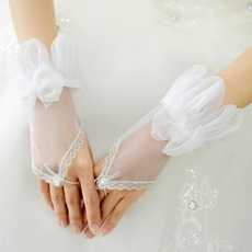 Sheer Organza Fingerless Gloves