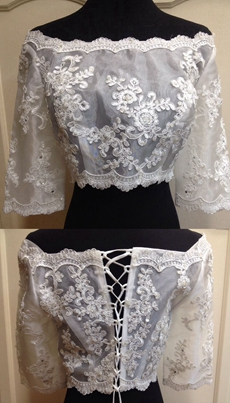 Off The Shoulder Lace Bolero