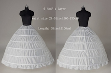 6 Hoops One Layer Ball Gown Wedding Petticoats