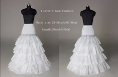 4 Tiered Wedding Petticoats Dropped Waist
