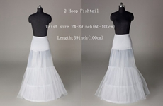 2 Hoop Fishtail Petticoats For Wedding Dress