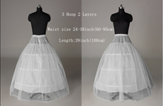 3 Hoops 2 Layers Ball Gown Bridal Petticoats