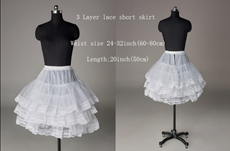 3 layers Short Lace Petticoat