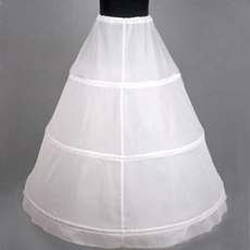 One Layer White Petticoat