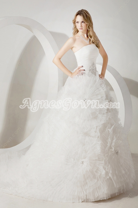 Luxurious 2016 Spring Ball Gown Wedding Dress