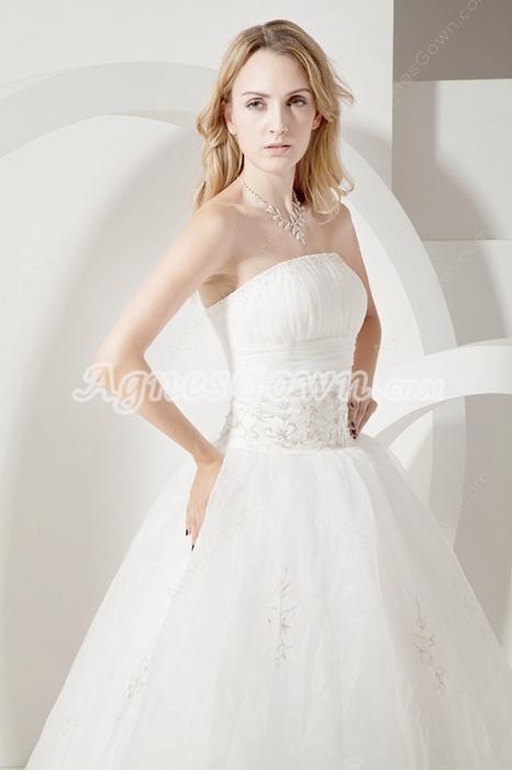 Terrific Strapless White Princess Quinceanera Dresses