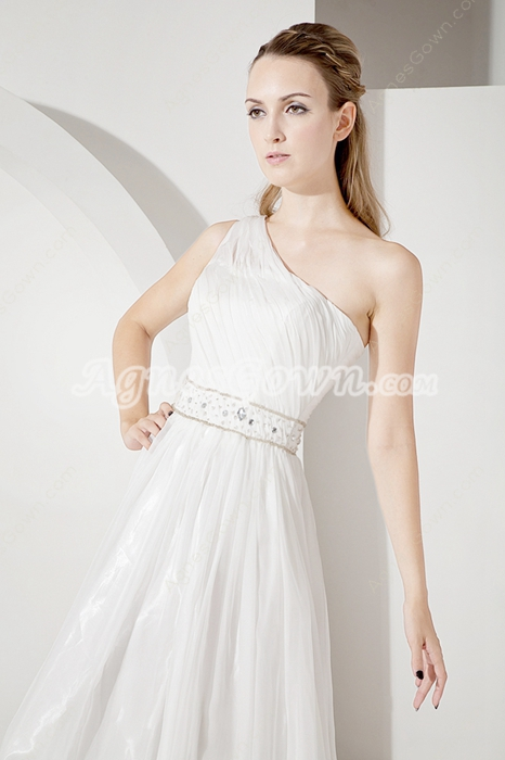 Glamorous One Shoulder Casual Beach Wedding Dresses