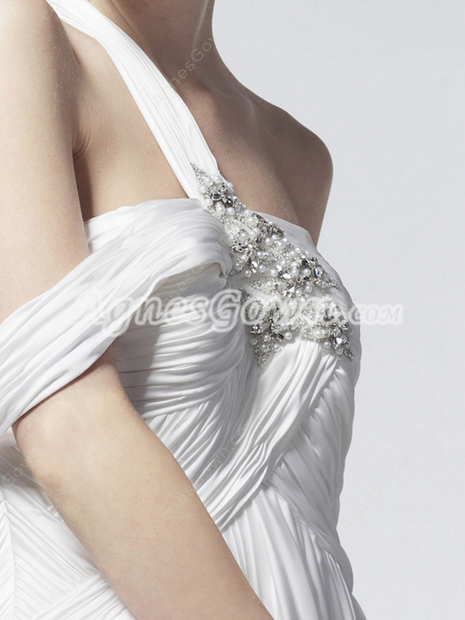 Flowing One Straps Maternity Wedding Gown