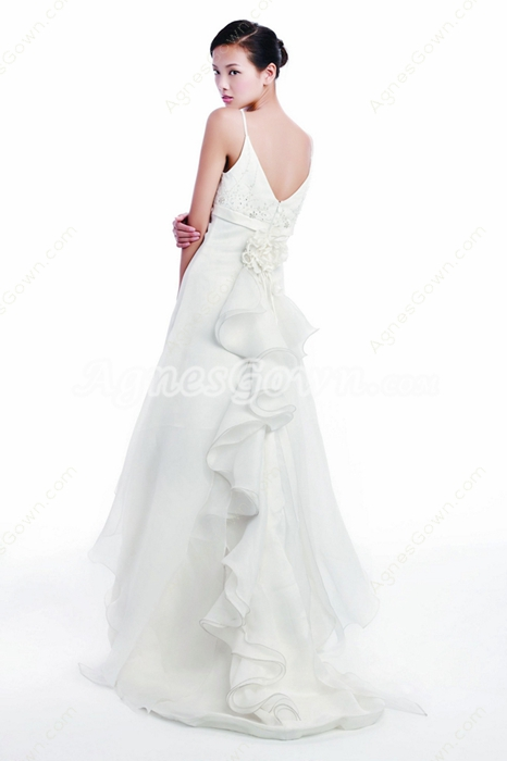 Greek V-Neckline Beach Wedding Dress