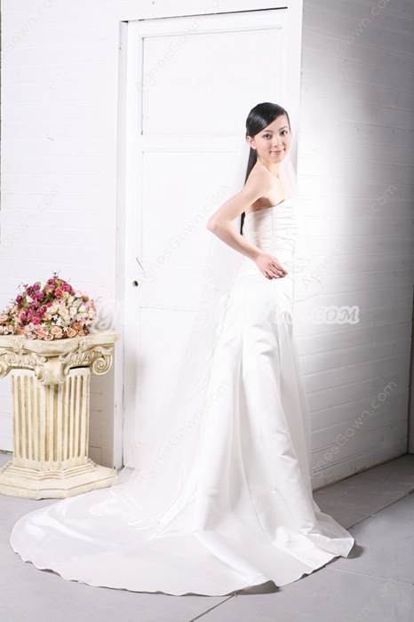 Noble Pleated Satin Wedding Dress