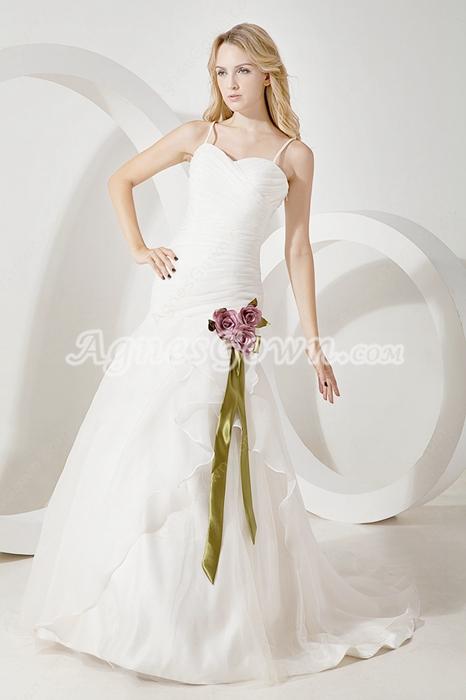 Pretty Spaghetti Straps Vintage Wedding Dresses 2016