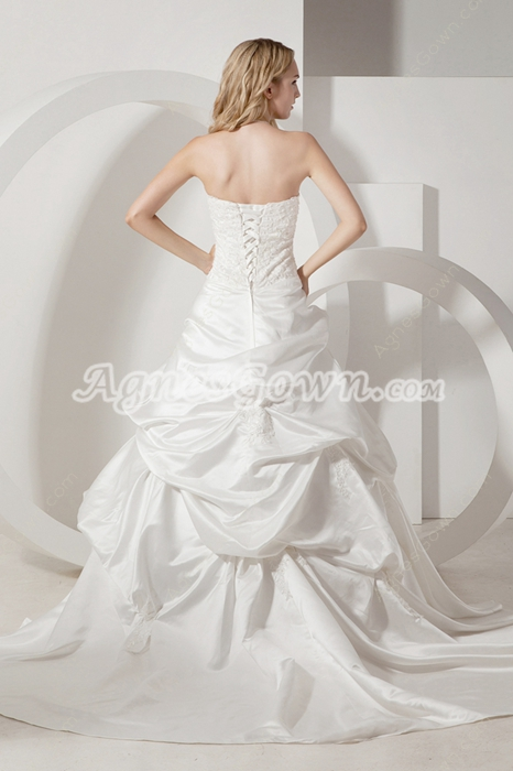 Classy Strapless Western Wedding Dresses