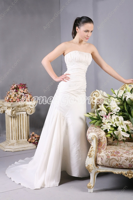 Vintage Ivory Wedding Dress With Lace