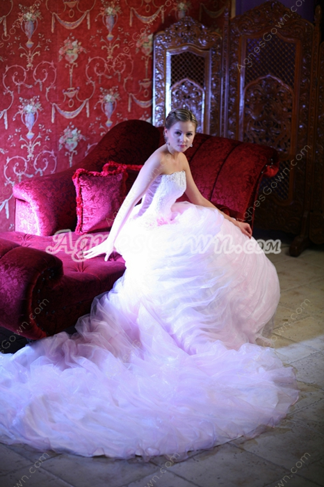 Dramatic Celebrity Wedding Dresses With Big Train