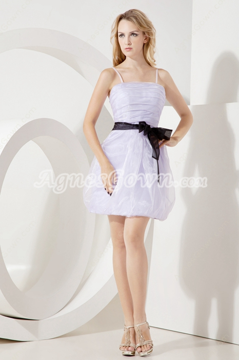 Lovely Spaghetii Straps Lavender Damas Dress