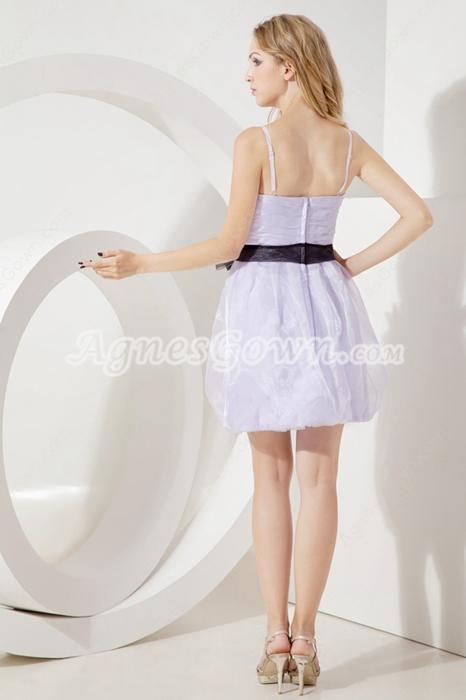 Lovely Spaghetii Straps Lavender Damas Dress