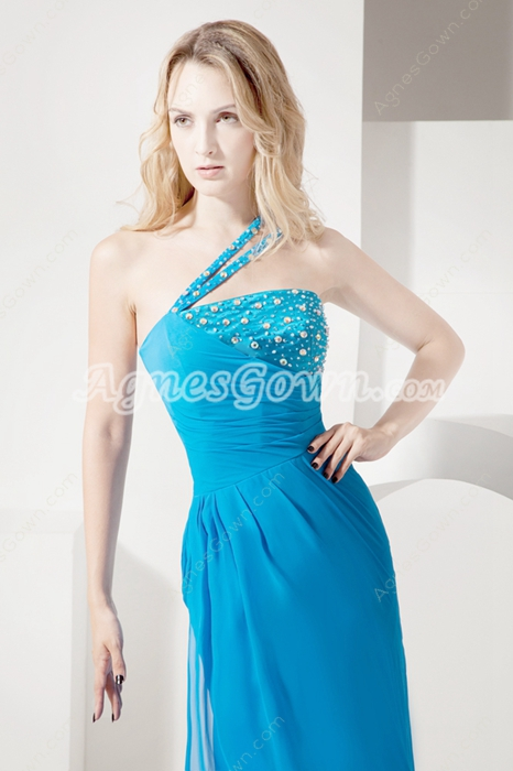 Beautiful Turquoise Blue Maxi Evening Dresses