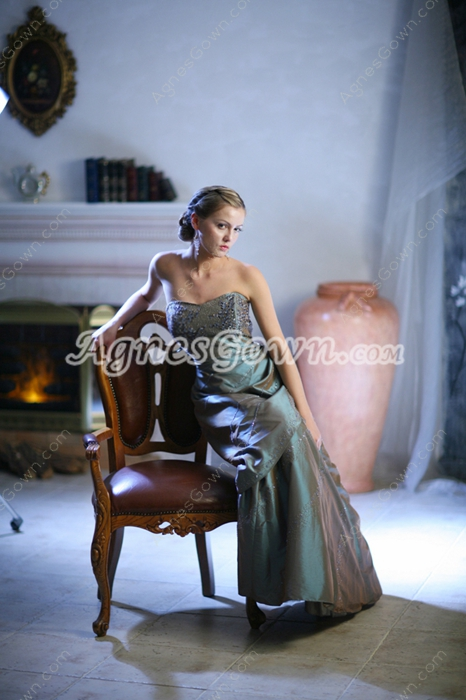 Chic Sweetheart Full Length Taffeta Plus Size Quince Dresses