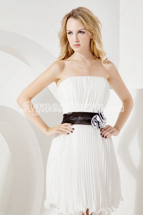 Eelegant Strapless White Little White Dress