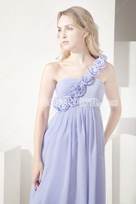 Affordable Lavender Chiffon Bridesmaid Dresses for Pregnant