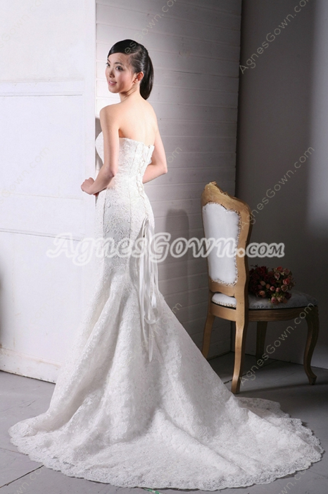 Beautiful Mermaid/Fishtail Lace Wedding Dress