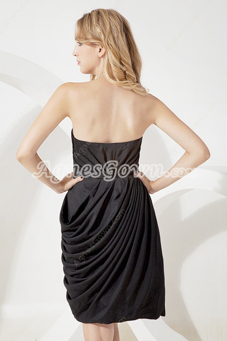 Chic Mini Length Black Prom Party Dress