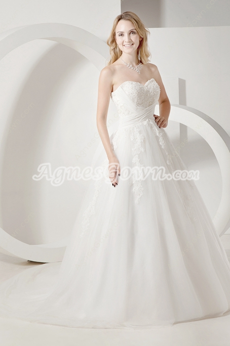 Sweetheart Princess Wedding Dress With Lace