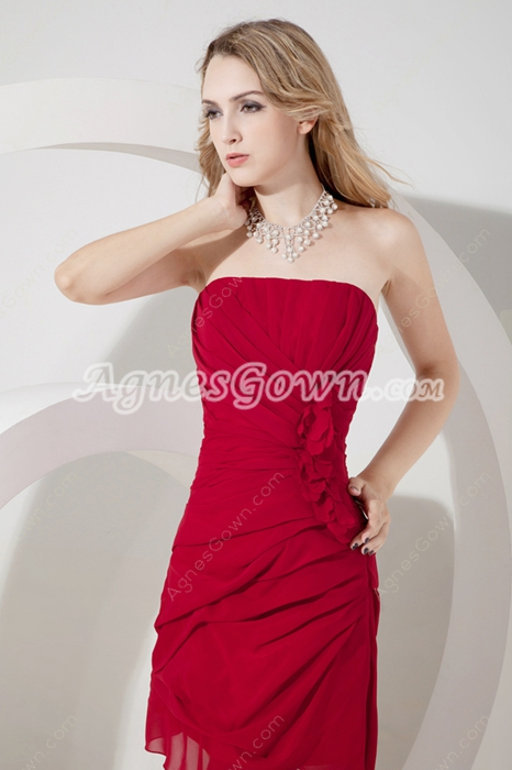 Chic Sleeveless Burgundy Short Homecoming Dresses