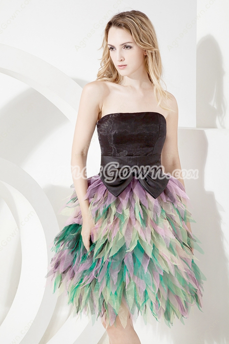 Colorful Strapless Mini Length Sweet XV Dresses