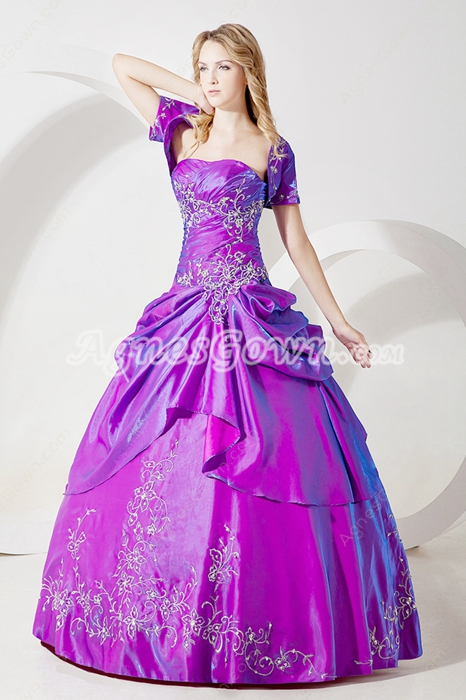 Terrific Lavender Princess Quinceanera Dress with Jacket