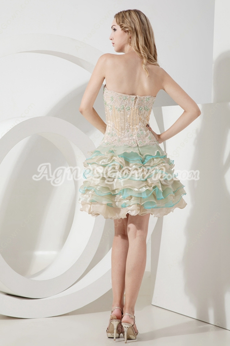 Pretty Colorful Champagne Tutu Sweet 16 Dresses